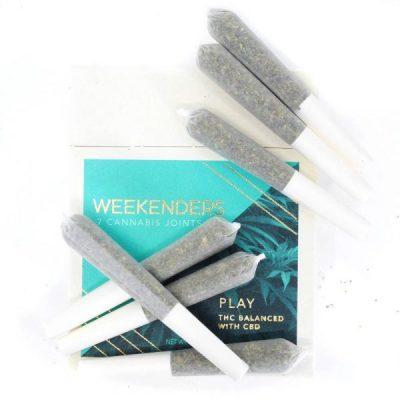 Weekenders - Play Cannabis Pre-Rolls (2:1 THC) UK