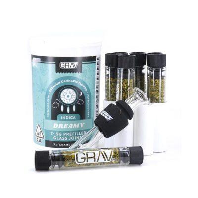 Buy GRAV - Seven Prefilled Glass DREAMY Joints (Indica) - 3.5g UK