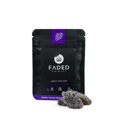 Faded Cannabis Grape Crush Gummies Ireland