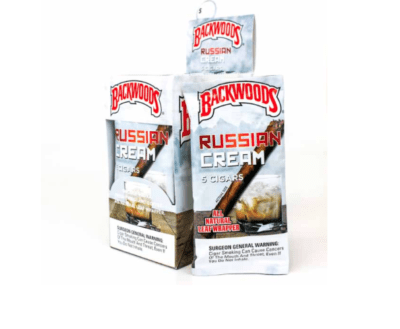 BACKWOODS RUSSIAN CREAM CIGARS 8 PACKS OF 5 (40 COUNT)