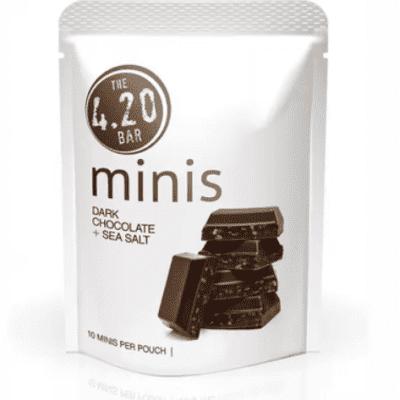 10:1 CBD Dark Chocolate UK + Sea Salt [10pk] (100mg CBD/10mg THC)