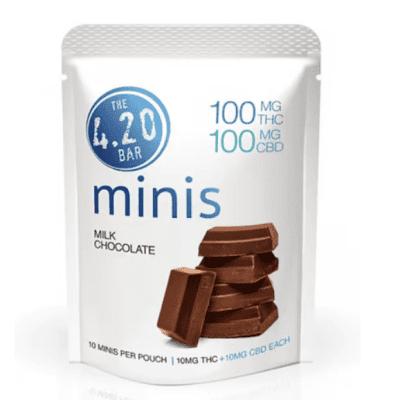 1:1 Milk Chocolate [10pk] UK (100mg CBD/100mg THC)